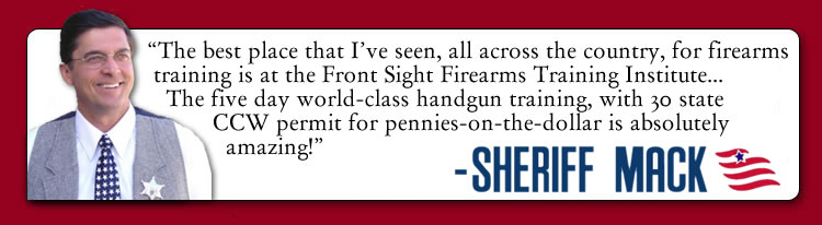 Sheriff Richard Mack endorses Front Sight