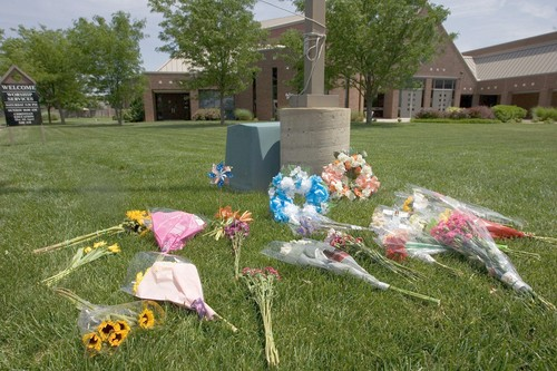 Flowers for slain pastor
